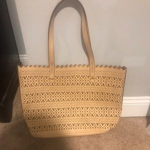 Stella & Dot beige tote bag